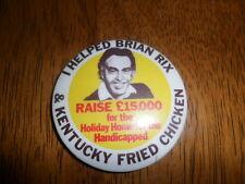 Vintage Kentucky Fried Chicken Brian Rix Raise $15,000 Button Pin RARE HTF