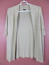 SC000646-TALBOTS Women ViscoseNylon Open Front Sweater Golden Beige Shimmer 2XP