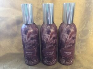 Bath and Body Works Cranberry Woods Concentrated Room Spray - Lot of 3 - NEW!