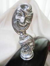 Comedy trajedy auto car motorcycle hood ornament mascot in polished aluminum USA