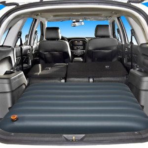 Portable inflatable car mattress camping air bed folding trunk mat lathe 2021