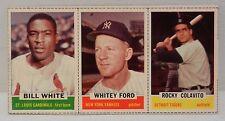 1962 Bazooka Baseball Card Panel (14) Whitey Ford/Rocky Colavito/ Bill White