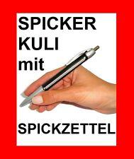 SPICKER KULI mit SPICKZETTEL - AUFROLLBAREN SCHUMMEL KUGELSCHREIBER !