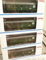Märklin 4317, 2 x 4318, 4319  4 x Umbauwagen der DB Epoche 3, mit Licht sehr gut