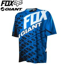 Fox Giant Demo SS MTB Jersey - Black/Blue - Sizes M, L, XL