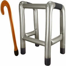 Inflatable Blow Up Zimmer Frame And Walking Stick Novelty Birthday Stag Do Party