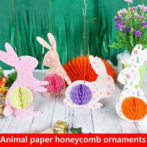 Bunny Easter Eggs Garland Hanging Happy Easter Birthday Party Wedding Decoration
