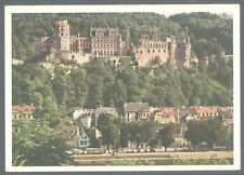 """Heidelberg Castle View from the North 1960's PC by """"Four Color Printing"""" USED"""