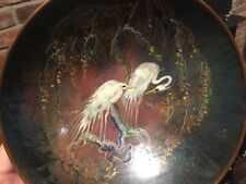 Incredible Holland Sagitta Copper Bowl with Stunning Enamel and Wire Work
