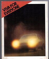 Vauxhall Viva HC 1972 UK Market Sales Brochure 1256 1800 2300 Std De Luxe SL