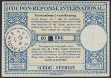 SWEDEN, 1953. Int'l Reply Coupon 60/40ore, Stockholm