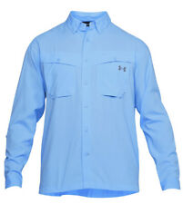 Under Armour Sz XL Tide Chaser Long Sleeve Fishing Shirt 1290744-452 Ether Blue