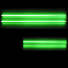 "4 Piece Car Green Undercar Underbody Neon Kit Lights CCFL Cold Cathode 6"" + 12"""
