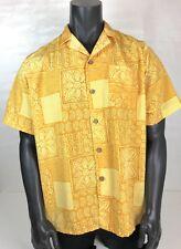 Edward's Men Short Sleeve Button Up Casual Hawaiian Shirt Size Large