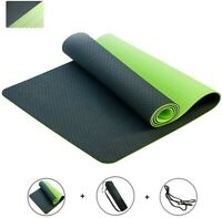 Yoga Mat for WomenAll Yoga Lovers Exercise Gym Mat Non Slip With Carry Strap