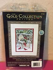 Dimensions Gold Collection CHRISTMAS IN THE ADIRONDACKS Cross Stitch KIT #8720
