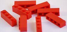 8x Lego® Steine Bausteine Bricks Pieces Parts No 3010 1x4 rot red NEU NEW
