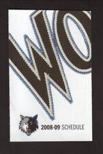 Minnesota Timberwolves--2008-09 Pocket Schedule