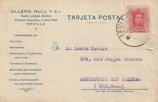 1926 Spain card from Sevilla to Montignies sur Sambre Belgium