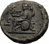 SEVERUS ALEXANDER Authentic Ancient ALEXANDRIA EGYPT Roman Coin ATHENA i76946