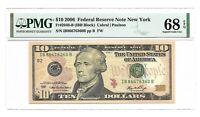 2006 $10 NEW YORK FRN, PMG SUPERB GEM UNCIRCULATED 68 EPQ BANKNOTE