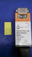 NEW  DO-IT ROUND HEAD JIG MOLD WITH WIRE KEEPER #3484 w/10 FREE WIRE FORMS