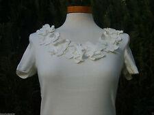 Taillenlang Damenblusen,-Tops & -Shirts mit Rundhals und Baumwolle für Business