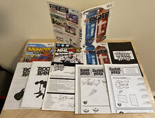 9 Wii Game and Accessory Instruction Booklets, One Wii game Cover