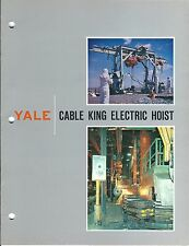 MRO Brochure - Yale - Cable King - Electric Hoist - c1963 - 5 items (MR119)