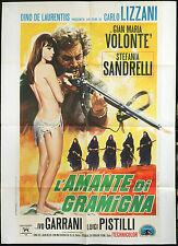 CINEMA-manifesto L'AMANTE DI GRAMIGNA sandrelli, volonté, pistilli, LIZZANI