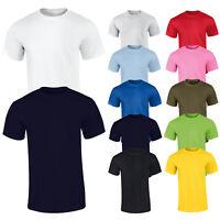 T-Shirt Uomo Basic Maglietta Casual Mezza Manica Corta Maglia 100% Cotone