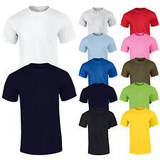 Camiseta de hombre Básico Camiseta Casual Mitad Manga Corta Suéter 100 % Algodón