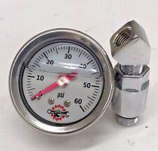 HARLEY OIL PRESSURE GAUGE & rr MOUNT shovelhead evolution big twin ss 60 white