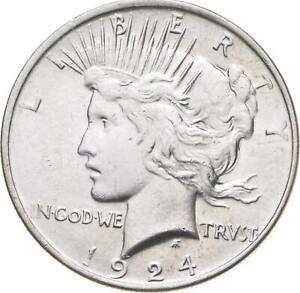 Choice - Gem BU Unc - 1924 Peace Silver Dollar -- 90% Silver *092