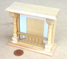 1:12 Scale Wooden Pine Fire Place Dolls House Miniature Fireplace Accessory 124P