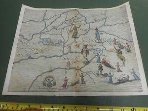100% ORIGINAL CAMBRIDGESHIRE ELY  MAP BY M DRAYTON POLYOLBION C1612 SCARCE