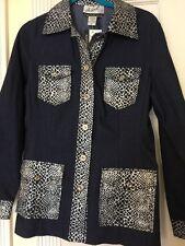 NWT Randolph Duke The Look Long Denim Jacket With Snake Print Removable Belt