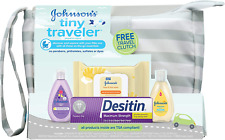 Johnson'S Tiny Traveler Baby Gift Set, Baby Bath And Skin Care Essential Product