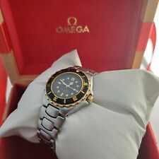 Ladies Omega seamaster professional Solid Gold Bezel Diver watch Boxed