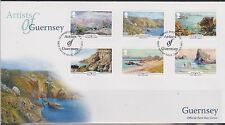 GB - GUERNSEY 2015 Artists of Guernsey/Paintings/SEPAC 15 SG 1570/75 FDC SCENERY