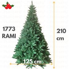 Albero di Natale 210 cm Pino Verde Realistico Folto 1800 Rami Naturale