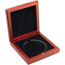 Rosewood présentation boîte cadeau pour 60mm round jetons et médailles
