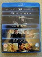3D Blu-ray Box Set: 47 Ronin / R I P D / Immortals 3D : 3 Films Blu-Ray Discs