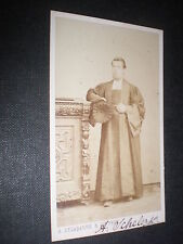 Cdv old photograph barrister magistrate by Delabarre Brussels Belgium c1860s