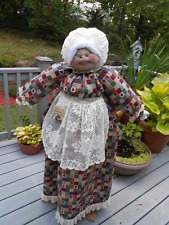 Vacuum Cover Soft Sculpture Grandma - Jeweltone Patchwork with Hearts