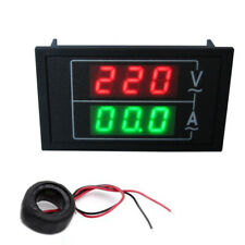 Ac110 300v 100a Digital Voltmeter Ammeter Led Amp Volt Dual Display Panel Mount