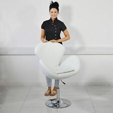 Beauty4Less SLCHAIR11W Leather Beauty Salon Chair With Hydraulic Height - White