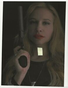 10 x 7 glossy photo print , GIRL WITH A PISTOL - FEMME FATAL