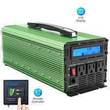 Edecoa 1500W 3000 Watt Inverter Pure Sine Wave 12V dc 110V 120V ac Lcd Handle