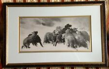 Vintage Lyman H. Nelson Published Work Of Unique Sheep Dog Print Art!